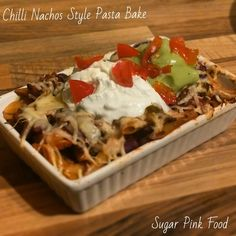 Sugar Pink Food: Slimming World Recipe: Chilli Nacho Style Pasta Bake Slimming world / healthy eating / diet / weight loss Slimming World Dinners, Slimming World Recipes, Slimming Eats, Snacks For Work, Healthy Work Snacks, Healthy Foods, Healthy Eating, Mexican Food Recipes, Diet Recipes