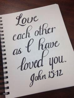 John 15:12 handlettering