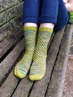 Ravelry: Slip Slide Splash Socks pattern by Megan Williams