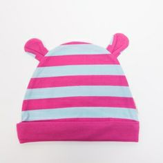 59aef8a9780 Super cute striped beanie hat with ears. The perfect accessory to the  Striped Bunny Romper