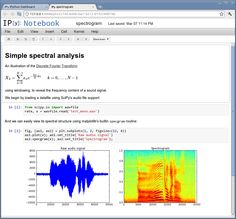 The IPython Notebook is a web-based interactive computational environment where you can combine code execution, text, mathematics, plots and rich media into a single document. These notebooks are normal files that can be shared with colleagues, converted to other formats such as HTML or PDF, etc.