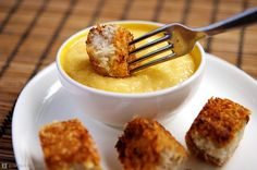 Crispy Coconut Crusted Tofu with Mango Chili Cream #vegan