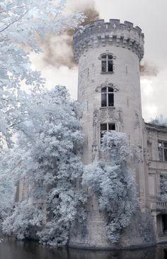 France Travel Inspiration - Château de la Mothe-Chandeniers, is a castle at the town of Les Trois-Moutiers in the Poitou-Charentes region of France