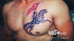 Özgür Tosun skydream tattoo zgrtattoo@hotmail... 00905393754641 TURKEY Antalya  Horse Türk Ottoman flag at dövme