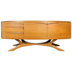 Mid Century Retro Vintage Organic Sideboard Buffet Credenza by Beithcraft | Pinned by 360 Modern Furniture
