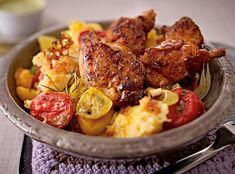Unser beliebtes Rezept für Turbohuhn mit Ofen-Knoblauch-Kartoffeln und mehr als 55.000 weitere kostenlose Rezepte auf LECKER.de.