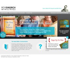 Roy Gingrich Ministries Is A Cincinnati Web Design Project Designed By Ideas  And Pixels. See