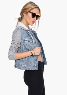 Jean vest. Great for cozy autumn layering!