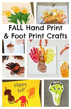 Hand Print Craft Ideas Great Round Up of Fall Crafts Ideas plus tips for crafting with toddlers!Great Round Up of Fall Crafts Ideas plus tips for crafting with toddlers! Daycare Crafts, Preschool Crafts, Fun Crafts, Arts And Crafts, Fall Preschool, Daycare Ideas, Resin Crafts, Paper Crafts, Theme Halloween