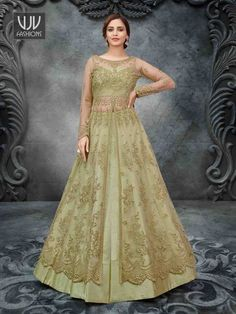 Rs6,300.00 Lehenga Style, Net Lehenga, Wedding Salwar Kameez, Net Gowns, Wedding Sarees Online, Designer Anarkali, Gowns Online, Anarkali Suits, Indian Ethnic Wear