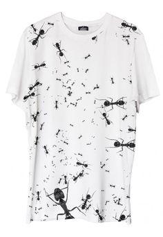 Ants - printed t-shirt @ www.duefashion.com