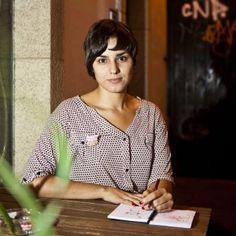 A ilustradora Nuria Díaz