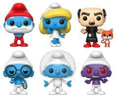Smurfs POP! Vinyl Figures From Funko Funko Pop Dolls, Pop Figurine, Funk Pop, Classic Cartoon Characters, Funko Figures, Disney Pop, Pop Toys, Pop Collection, Pop Vinyl Figures