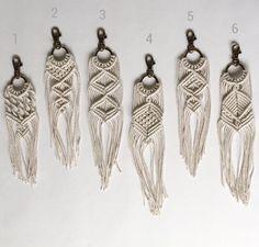 Macrame Keychains by AncestralStore on Etsy