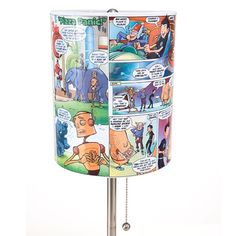 Mod Podge Comic Book Lamp Shade -  Fab pic but link is broken