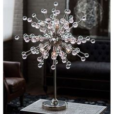 Regina Andrew Nickel Constellation Table Lamp with Clear Glass | Table Lamps Designer