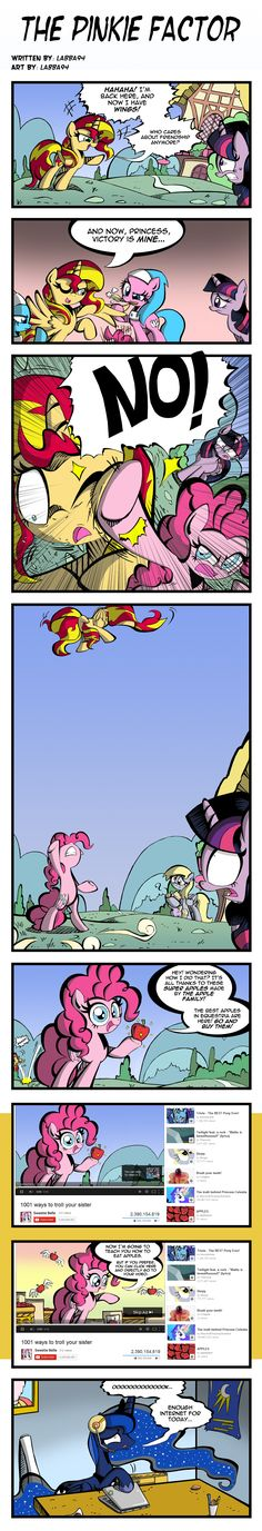 The Pinkie Factor by labba94.deviantart.com on @deviantART  That's our Pinkie! Always breaking the forth wall! :D