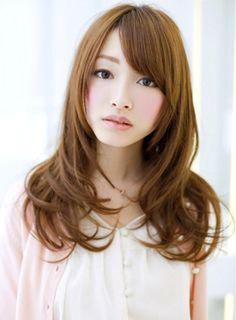 Asian look, long hairstyle