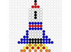 Rocket perler bead pattern