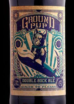 Stranger & Stranger's Ground Pup on the Dieline. Beer packaging design by Stranger & Stranger