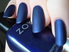 59 ideas nails matte blue navy polish for 2019 Shiny Nails, Aycrlic Nails, Blue Nails, Glitter Nails, Hair And Nails, Matte Nail Polish, Nail Polishes, French Nail Designs, Super Nails
