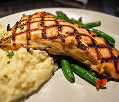 """62 Likes, 5 Comments - District Daily Eats (@district_daily_eats) on Instagram: """"Salmon with cauliflower mash and green beans at @nyajoes #fish #healthyfood #foodpics #delicious"""""""