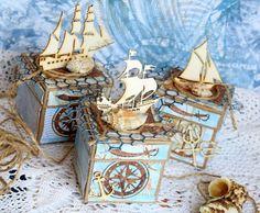 Морские коробочки для конфет Scrapman DT
