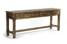 Recycled Pine Console Table