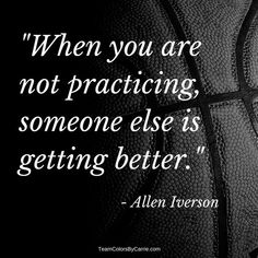25 of the Greatest Basketball Quotes Ever : Practice makes perfect! Allen Iverson I love sports quotes, and thought you might like my list of 25 greatest basketball quotes all of all time! Cheerleading Quotes, Cheer Quotes, Volleyball Quotes, Sport Quotes, Quotes About Sports, Famous Sports Quotes, Great Sports Quotes, Sports Sayings, Cheerleading Gifts