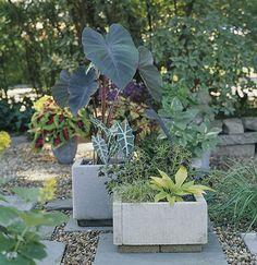 Simple Diy Concrete Outdoor Planters Of Pavers