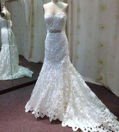 #lasercut #satin slimfit #mermaidwedding dress K1421 Sample Ivory Size 12 RRP: $1899.00 Standard delivery 20 weeks