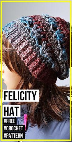 crochet Felicity Hat free pattern : crochet Felicity Hat free pattern – easy crochet hat pattern for beginners Crochet Daisy, Vintage Crochet, Free Crochet, Crochet Beret, Chunky Crochet, Easy Crochet Hat Patterns, Crochet Ideas, Crochet Tutorials, Knitting For Beginners