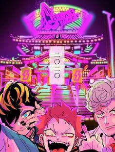 Aesthetic Art, Aesthetic Anime, Vaporwave Art, Arte Cyberpunk, Boy Illustration, Grunge Art, Handsome Anime Guys, Boy Pictures, Fanarts Anime