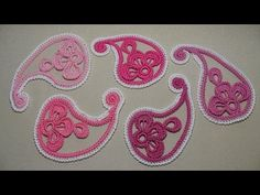 Motive for Irish lace paisley Шевченко) - YouTube