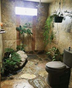 50 Trending 2018 Jungle Bathroom Design - Home Design Jungle Bathroom, Bathroom Tub Shower, Tiny House Bathroom, Hall Bathroom, Bathroom Ideas, Bathroom Trends, Bathroom Colors, Bathroom Hacks, Shower Ideas