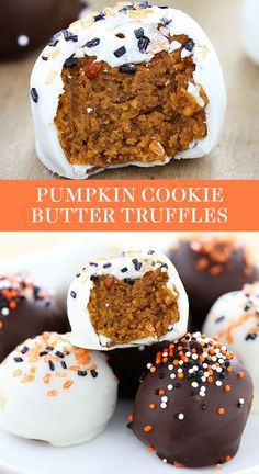 Pumpkin Cookie Butter Truffles