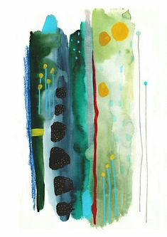 Spirit of the Air - Emma Larsson Abstract Watercolor Art, Watercolor And Ink, Watercolor Paintings, Watercolors, Watercolor Food, Watercolor Wallpaper, Art Paintings, Painting Art, Art Journal Inspiration