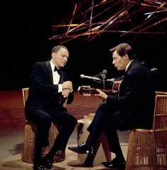 Frank Sinatra and Antonio Carlos Jobim during the incredible TV special featuring their amazing collaboration. Listen to those records, they're that good.