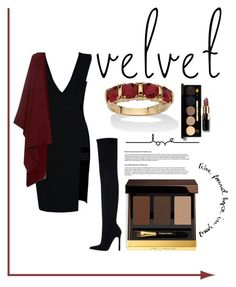"""red velvet!"" by newbee3 ❤ liked on Polyvore featuring Tom Ford, Zara, The Row, Palm Beach Jewelry and Bobbi Brown Cosmetics"