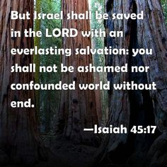 Image result for But Israel shall be saved in the Lord with an everlasting salvation