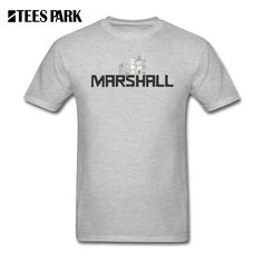 Men's Tee Printed T Shirts Marshall Printed 100% Cotton Tops Clothes Short Sleeve Tshirs Funny Male Shirts Mens #Affiliate
