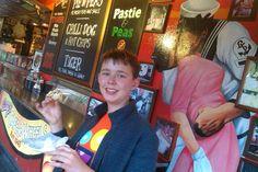 A pie n' peas from Harry's Cafe De Wheels after a hard festivals work.