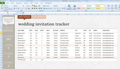 Wedding Invite List Template for Excel 2013