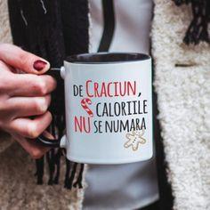 Caloriile nu se numara de Craciun.  Cel putin, noi asa spunem. 8 Martie, Mugs, Tableware, Coffee, Kaffee, Dinnerware, Tumblers, Tablewares, Cup Of Coffee