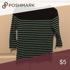Striped shirt Never worn, from forever 21. Forever 21 Tops Tees - Long Sleeve