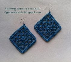 Framed Granny Square Earrings... Free pattern!