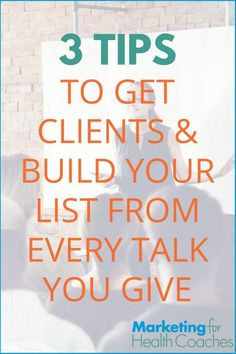 healt coach How to Get Clients amp; Build Your List From Every Talk You Give 3 Tips for Every Talk You Give for Marketing your Health Coaching Practice For Your Health, Health And Wellness, Health Tips, How To Get Clients, Stress, Online Entrepreneur, Yoga, Workout, Make More Money