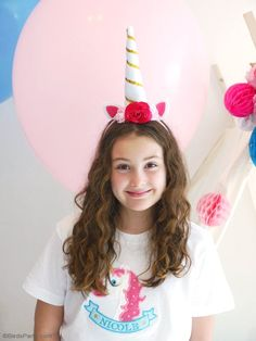 DIY Unicorn Party Headbands - learn to craft these easy accessories for birthday celebrations, Halloween costume or a party photo booth prop!