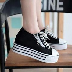 Buy 'Zandy Shoes – Zip Canvas Platform Sneaker' with Free Shipping at YesStyle.com.au. Browse and shop for thousands of Asian fashion items from China and more!