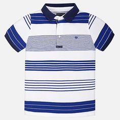 Striped short sleeve polo for boy